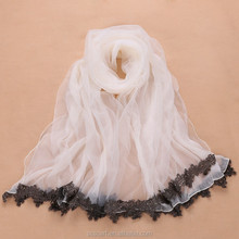 The spring new organza rose petals lace modern scarf shawl factory direct sale