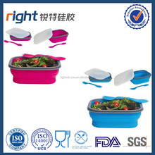 PBA free silicone collapsible baby food storage with lid