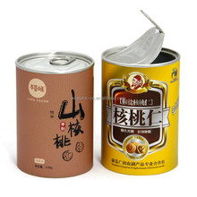 Airtight Food Grade Paper Can with Aluminum EOE