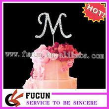 Plata 4.5cm cumpleaños de pequeños diamantes de imitación de adorno de torta
