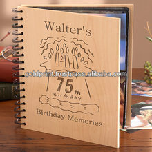 """Beautifully handcrafted wooden Photo Album to store 4"""" x 6"""" photos"""
