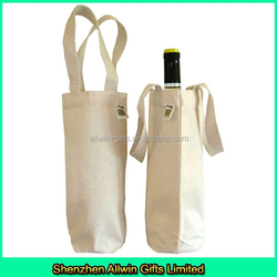 custom design single bottle cotton wine tote