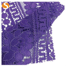 High Quality Knitted Nylon Rayon Mesh Lace Fabric for Women
