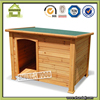 SDD07 off-center wooden log cabin dog house