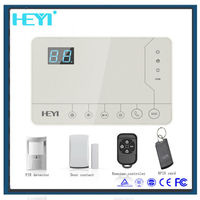 32 wireless zone + 4 wired zones gsm wireless house alarm system with remote controller