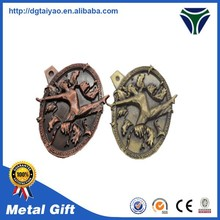 High quality 3D/2D bronze / metal medal in craft