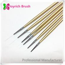 Wooden golden long handle liner brush fine liner pen