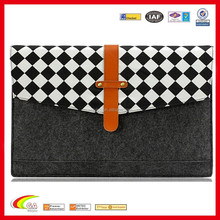 Custom design felt & leather notebook/laptop sleeve for 15.6 inch, Oem notebook sleeve with factory price