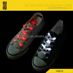 2015 good quality novelty wholesale glow in the dark round shoe laces