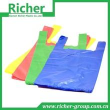 Xiamen China Supplier Colored PE Plastic Shopping Bag