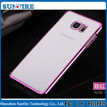 for s6 edge plus case, Ultra thin electroplating PC clear cover case for s6 edge plus