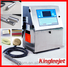 KINGLEE JET Solvent Inkjet Variable Data Printing Machine for Date/time/batch/serial number continuous inkjet printer
