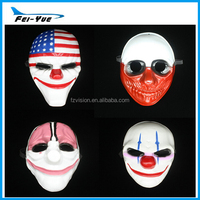 Wholesale Plastic Full face Payday 2 party mask Halloween mask party