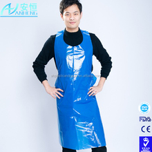 Disposable LDPE apron for medical use with high quality white/blue/green