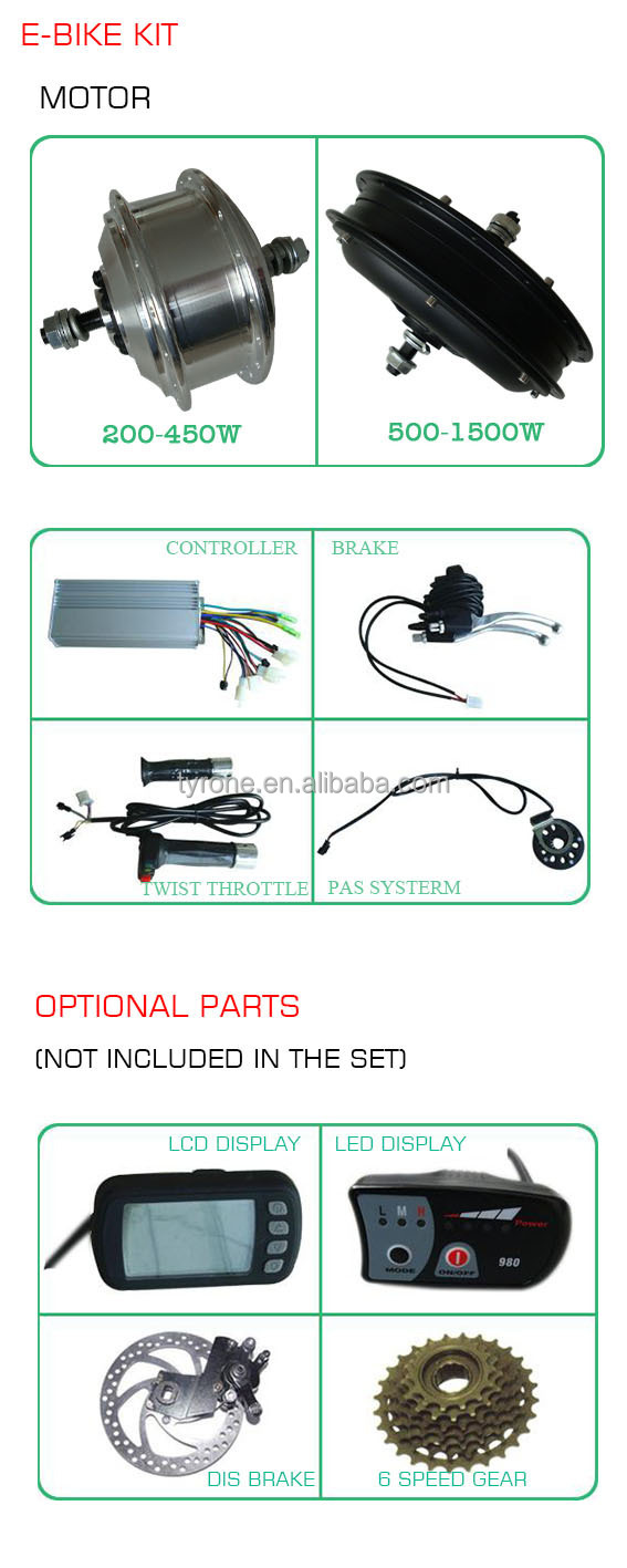 2015 Green to environment electric motor for bicycle conversion kits