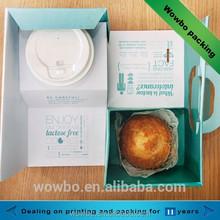 2015 New design foldable paperboard cupcake take away box