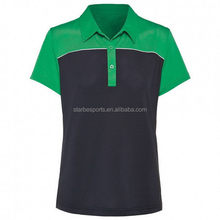 Durable most popular plain color lady polo r t shirt
