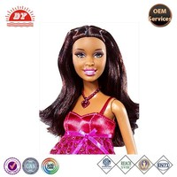 New modeling customized PVC African girl big head doll