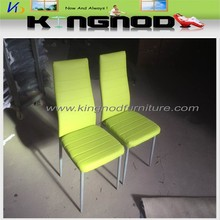 pu back and seat painted dining chair