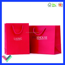 2015 New fancy custome logo printed Luxury shopping bag ,gift bag,paper bag with handle
