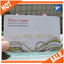 30mil loyalty cards with credit card golden emobossed card no.