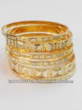 Glittering Gold plated bangle models 2012
