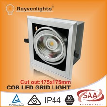 15w led AR111 grill spotlight,square recessed led ceiling light