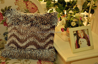 High quality super soft home textile ruffled balance vintage square chair cushion