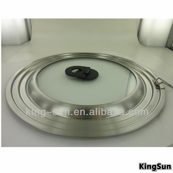 Utensilios de cocina piezas universales tapa de vidrio templado