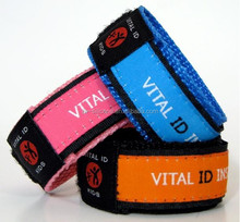 Child Safety Wrist Band with Insert Tag