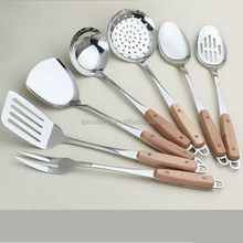 High Quality Wholesale Kitchen Utensils With Wooden Handle