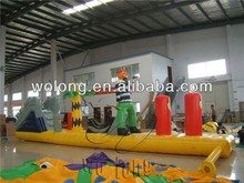 fun inflatable water floating island, water sports