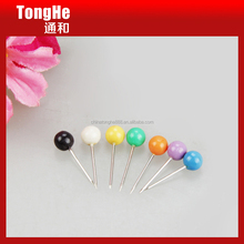 Office Using Decorative Colored Pearl Head Map Pins