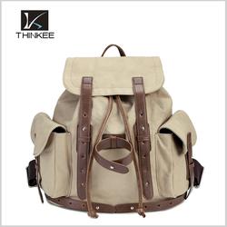 hot sale cheap canvas shoulder bag, canvas drawstring backpack for men