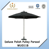 Leisure Way Outdoor Canvas Beach Umbrella With Pulley System