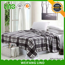 picnic blanket/grid bed sheet/baby soft thick blanket