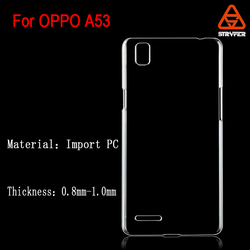 Transparent case for OPPO A53 cover ,hard case for OppO A53 mobile phone case,Hard pc case for OPPO A53