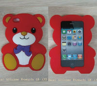 Lovely Bear Silicone Phone Case For Iphone 4/4S