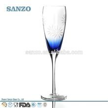 color del tallo de vidrio de champagne sanzo