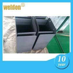 WELDONcustom conventional social public aluminum stainless trash can trash bin fabrication sheet metal fabrication