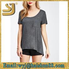 simple fashion custom loose t shirt women custom crop tops