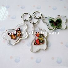 Transparent Plastic Keychains,Butterfly Shaped Blank Acrylic Key Chains
