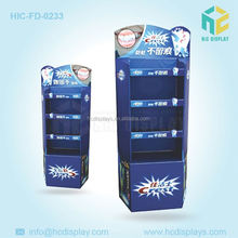 Manufacturer & Designer Paper Corrugated Floor Display for Toothpaste & Toothbrush