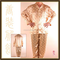 factory wholesale silky breathable plus size satin pajama