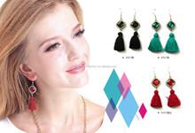 2015 Earrings with tassel lady women fashion accessories diamond alloy dangling earrings