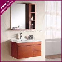 ROCH 8051 Hanging Oak Bathroom Vanity Natural Wood Washing Table