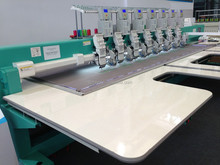Rehin stone with Flat embroidery machine