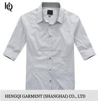 High-End light blue denim shirt for men wholesale