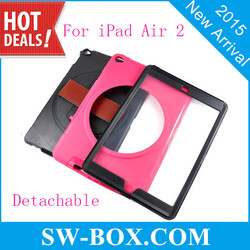 Kickstand Dual Layer Hybrid Hard PC TPU Case for ipad 6 with Touch Screen Film