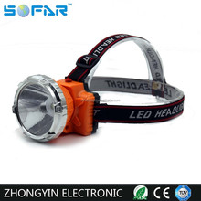 Plastic LED Mining Light Head Lamp Miners Camping Hunting LED Light